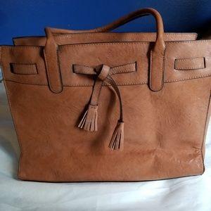 Handbags - Faux leather tan bag
